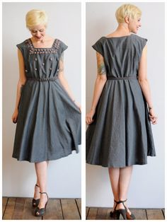1950s Dress // Break in the Clouds Dress // by dethrosevintage, $122.00
