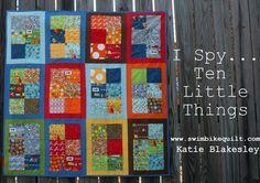 I Spy Ten Little Things Quilt « Moda Bake Shop