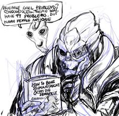 Garrus does research <---- The book name killed me XD