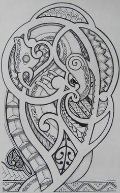 taniwha maori mythological water dwelling creature tuatara head fish tail koru designs. Black Bedroom Furniture Sets. Home Design Ideas