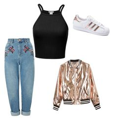 """""""#bomber jacket"""" by faboulouslymusicalandlove on Polyvore featuring Miss Selfridge, Sans Souci and adidas"""