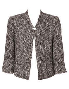 Pictured is Basque - Notch Lapel Boucle Jacket Boucle Jacket, Blazer, Sweaters, Jackets, Chanel, Inspired, Women, Style, Fashion