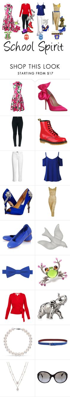 """Kanye West- School Spirit"" by texasradiance ❤ liked on Polyvore featuring Samantha Sung, Kurt Geiger, Dr. Martens, Joseph, Badgley Mischka, Coach House, Tommy Hilfiger, Bulgari, ALPHA and Diane Von Furstenberg"