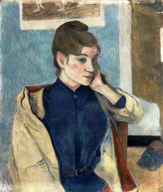 "colin-vian: "" Paul Gauguin - Portrait of Madeleine Bernard, 1888. Oil on canvas, 72 x 58 cm. Musée de Grenoble, Franc"