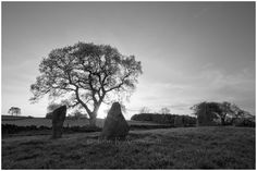 Nine Stones Close, a stone circle not far from Robin hood stride, in the peak district national park.