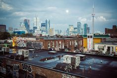 If you're planning on heading to Kensington Market anytime soon, here are 7 places I think you should check out and things you should do. Toronto Skyline, New York Skyline, Toronto Neighbourhoods, Toronto Ontario Canada, 7 Places, Riverside Park, Cityscape Photography, University Of Toronto