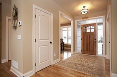 White 2 panel door and Front door with windows