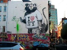 An art collage from June 2017 Graffiti, Bansky, I Love Ny, Philadelphia, Street Art, Nyc, Cool Stuff, Design, Brooklyn