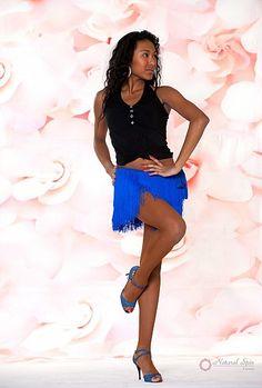 Natural Spin Signature Dance Kimono/Dance Wrapper/Dance Shorts:  DA02_BLUE
