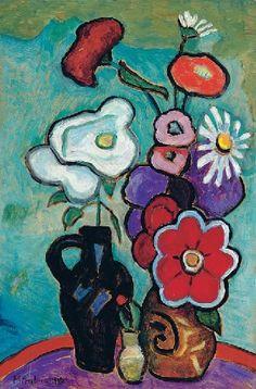 Gabriele Münter (1877-1962) was een Duitse expressionistische schilder en grafisch kunstenaar. Münter was de levensgezellin van Wassily Kandinsky. Ze hield een aanzienlijk deel van zijn werk verborgen tijdens en vlak na de Tweede Wereldoorlog en gaf het later terug aan de openbaarheid, met werken van zichzelf en kunstenaarsvrienden van Der Blaue Reiter.