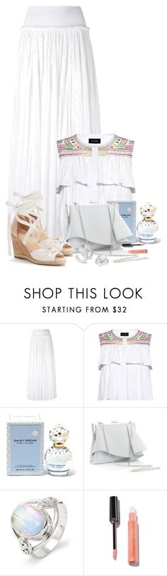 """White Maxi Skirt"" by sarahguo ❤ liked on Polyvore featuring Alberta Ferretti, Saloni, Marc Jacobs and Coast"
