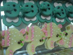 Galletas decoradas temáticas de elefantes