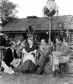 1957, Walt on the set of Old Yellar Golden Oak Ranch