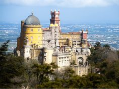 """Sintra, Portugal  The Romans made it a place of cult moon worshiping, naming it """"Cynthia"""" after the goddess of the moon."""