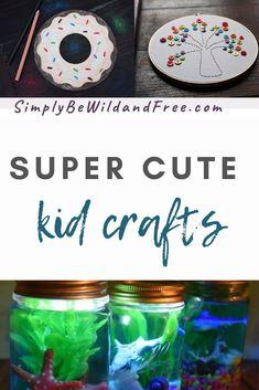 Summer craft ideas for kids! #summercrafts #summeractivities #crafts #craftsforkids #kidcrafts #kidactivities #craftideas #summerideasforkids #craftideas Cute Kids Crafts, Summer Crafts For Kids, Craft Activities For Kids, Craft Stick Crafts, Spring Crafts, Crafts To Do, Holiday Crafts, Easy Crafts, Craft Ideas