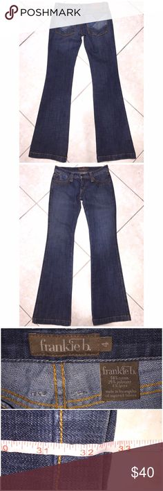 """⚡️FLASH SALE⚡️ONE HOUR ONLY⚡️REG PRICE $30⚡️ ⛄️WINTER SALE⛄️Frankie B. Jeans in size 4 with a 32"""" inseam come in preloved and VERY GOOD condition. Super cute back pocket design and leather name tag. My favorite brand of jeans right now. I love how they fit! My prices fluctuate from time to time. Catch items when the prices are low!❤️ Frankie B. Jeans Boot Cut"""