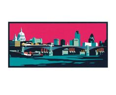 Greetings cards by Paul Catherall. Paul Catherall is a London based printmaker and illustrator, renowned for his bold linocuts of architectural landmarks. London Art, Urban Landscape, Contemporary Artists, Fine Art Prints, Lino Prints, Printmaking, Screen Printing, Greeting Cards, Illustration