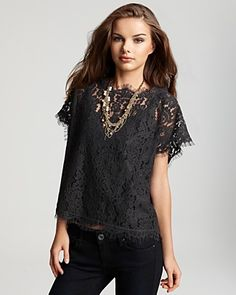 lace top by joie