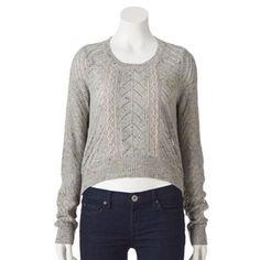 LC Lauren Conrad Crop Pointelle Sweater - Women's #Kohls