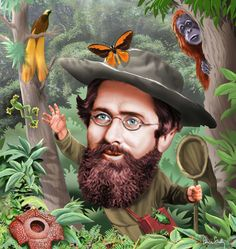 Naturalist Alfred Russel Wallace (1823–1913), portrait by Peter von Sholly; biography