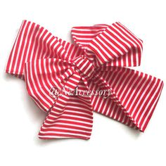 Baby Girl Head Wrap Red ans White Stripes Headwrap by NeAccessory