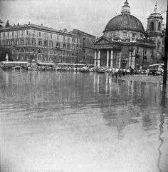 Ever wondered what happens to the historic city of Rome when the Tiber River floods?  This is Piazza del Popolo in 1953. Taken from:www.idrografico.roma.it