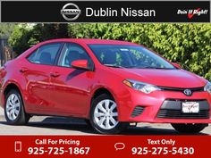 2014 Toyota Corolla LE $13,000  miles 925-725-1867 Transmission: Automatic  #Toyota #Corolla #used #cars #DublinNissan #Dublin #CA #tapcars