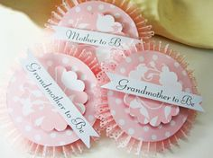 Beautiful Baby Shower Party Badges by TheBohoBride on Etsy, $28.99