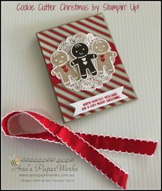 card christmas gingerbread cookie man men SU Stampin´Up Cookie Cutter Christmas Gingerbread Punch Art Stampin Up Cookie Cutter Christmas bundle project - Stampin' Up! Holiday Catalogue launch, Stampin' Up! Ann's PaperWorks Ann Lewis Stampin' Up! Diy Holiday Cards, Stamped Christmas Cards, Christmas Card Crafts, Stampin Up Christmas, Christmas Cards To Make, Xmas Cards, Christmas 2016, Christmas Cookie Cutters, Christmas Cookies