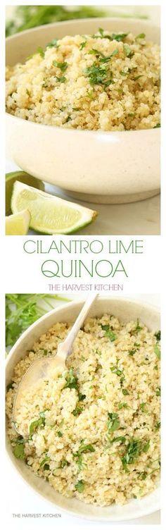 Lime Quinoa One pot Cilantro Lime Quinoa. Your new favorite easy quinoa recipe. Your new favorite easy quinoa recipe. Quinoa Recipes Easy, New Recipes, Vegetarian Recipes, Cooking Recipes, Favorite Recipes, Healthy Recipes, Skillet Recipes, Rice Recipes, Budget Recipes