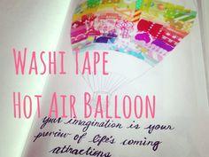 Washi tape Hot Air Balloon Decoration [HD]