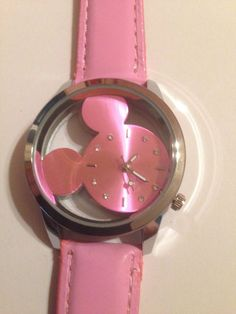 New Silver & Pink Transparent MICKEY MOUSE Watch  #Unbranded #Fashion