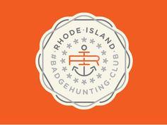 Dribbble - Rhode Island Badgehunting Club by Allan Peters