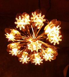Mid Century Kitsch Atomic Age Gold Tinsel and by RoysTradingPost