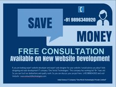 Free Consultation available on New Website Development and Website Designing :