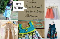 Free Crochet and Fabric Dress Patterns to combine the two crafts of sewing and crochet. The design is unique and the final product is really amazing.