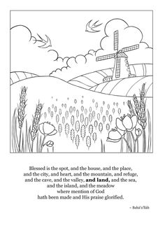 We Are Offering 16 Beautifully Illustrated Blessed Is The Spot Prayer Coloring Sheets In Honor Of Bicentenary Birth Founder Bahai