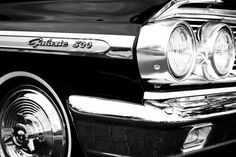 1964 Ford Galaxie 500 Vintage Car Fine Art Print- Car Art, Antique Car, Home…