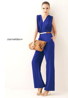 New arrival! new 2014 summer jumpsuit elegance OL Sexy deep V jumpsuit women jumpsuit black blue purple free shipping-in Jumpsuits & Rompers from Women's Clothing & Accessories on Aliexpress.com | Alibaba Group