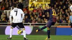 Thiago Alcántara, FC Barcelona.   Valencia 1-1 FC Barcelona. 2013-02-03.