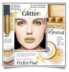 """""""So Sparkly: Glitter Lips"""" by ewa-naukowicz-wojcik ❤ liked on Polyvore featuring beauty, Tatcha, By Terry, Tom Ford, Bite and glitterlips"""