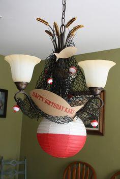 Fish Birthday Party Bobber Net Decoration  Create. Share. Repeat!: Mom's Fishy Birthday Party