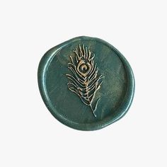 Traditional Wax Seal Stamp with an engraved Peacock feather motif. Mail Art Envelopes, Quill And Ink, Origami Gifts, Seal Design, Wax Seal Stamp, Cute Stationery, Luna Lovegood, Journal Stickers, Book Aesthetic
