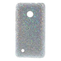 Mesh - Nokia Lumia 530 Hoesje - Back Case Hard Glitter Zilver | Shop4Hoesjes