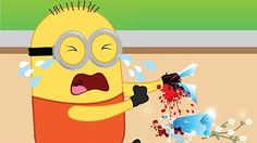 Minions Banana Injected by Doctor due to Bee Attack! Finger Family Minions Songs Nursery Rhymes - YouTube