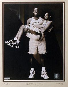 Shaquille O'Neal Holding Kobe Bryant