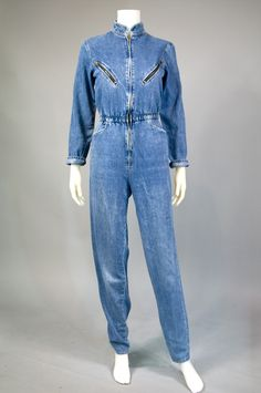 The jumpsuit found its way back into fashion in the 1970s and by the 1980s, the jumpsuit went super casual with the era's love of all-things-denim.