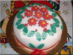 Torta Agrifogli e Stelle di Natale di Una fetta di paradiso
