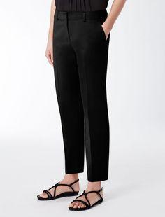 Max Mara TILLY nero: Pantaloni in gabardina di cotone.
