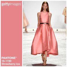 Strawberry IceMonique Lhuillier. Getty Images and Pantone Team up for the 2015 Fashion Color Report